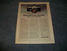 "1971 Honeywell Pentax Spotmatic Vintage Camera Ad ""There is No Finer Camera Made"