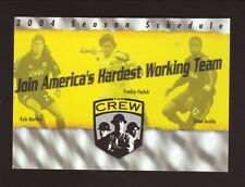 Columbus Crew--2004 Pocket Schedule--Huntington Bank--Martino/Hejduk/Buddle