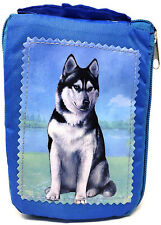 Siberian Husky Foldable Bag - Durable, Waterproof - Zippered Market Tote