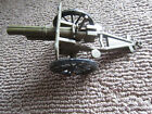 """VINTAGE Toy Soldiers Lead Cannon 4-1/2"""" Long Wheels Spin"""