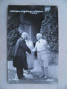 Foto AK 1930 Siegfried Wagner F.v. Siemens Bayreuth Festspielhaus Schöne Erhaltu