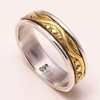 Solid 925 Sterling Silver Spinner Ring Meditation Ring Statement Ring Size st410