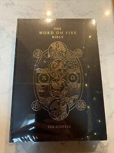 Word On Fire Bible The Gospels w Commentary Catholic Gold Ink Accents Paperback