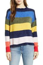 $59 NWT WOVEN HEART NORDSTROM MULTI-COLOR SOFT STRIPED CHENILLE SWEATER SIZE S