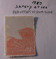 Philippines ERROR RED OFFSET 1983 SAFETY AT SEA