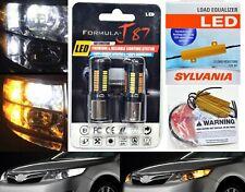 LED Switchback Light 4014 White Amber 1157 Two Bulbs Resistor Front Turn Signal
