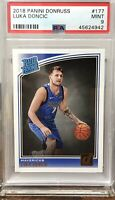 2018 LUKA DONCIC DALLAS MAVERICKS PANINI DONRUSS RATED ROOKIE PSA 9 #177