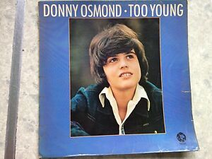 """Donny osmond, too young, 12""""vinyl record Lp, free post"""