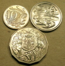 Australia 7 coin uncirculated lot