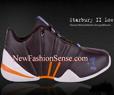 Brand New Authentic Starbury 2 Black Orange White Low Top Athletic Shoes Size 6