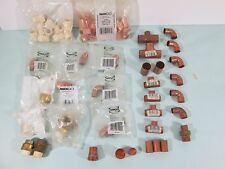 "NIBCO Copper Fittings LOT Straight T Bend Plumbing Coupler 1/2"" Coupler Coup NOS"