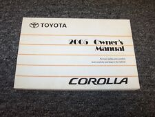 2005 Toyota Corolla Sedan Owner Owner's Operator Guide Manual S XRS CE LE S 1.8L