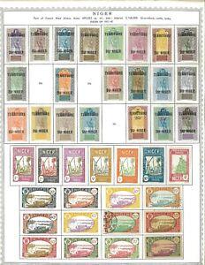 Niger & German Occupied Togo 1921-1942  M & U Hinged on Minkus Pages