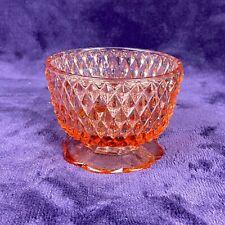 Vintage Pink Indiana Glass Diamond Point Fairy Lamp Votive (Base Only)