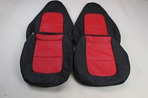 Custom Made 1996 - 2002 BMW Z3 Leather Seat Covers for Standard seat TwoTone RED
