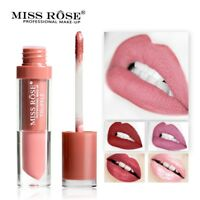 MISS ROSE Matte Liquid Lipstick Waterproof Long Lasting Lip Gloss Makeup Cosmeti