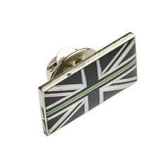 Thin Green Line Union Jack UK GB Pin Resin Badge Ambulance / Paramedic