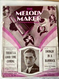 MELODY MAKER MAGAZINE OCTOBER 1930 - HAWAIIAN BAND IN LONDON ETC!