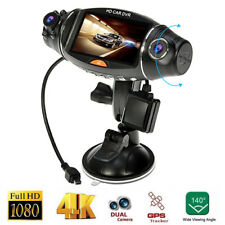 Dual Lens Camera HD Car DVR Dash Cam Video Recorder G-Sensor Night Vision GPS CY
