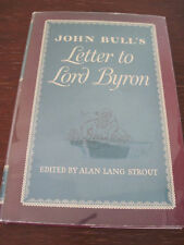 1st Edition JOHN BULL'S Letter to LORD BYRON Correspondence CLASSIC