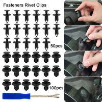 150 x Plastic Car Push Pin Rivet Trim Clips Panel Fasteners Interior Assortments