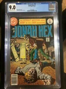 JONAH HEX #1 CGC 9.0 VF/NM Very Fine Near Mint 1977 DC Western Bronze Age Key