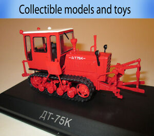 model Tractor 1: 43 DT-75K USSR 1963 Hachette, casting, Tractor series