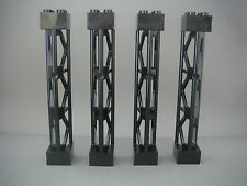 Lego 4 piliers noirs 2x2x10 Neufs / Black supports NEW REF 95347