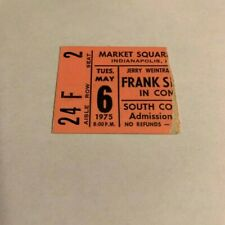 Frank Sinatra 1975 Concert Ticket Stub Market Square Jazz Big Band Old blue eyes