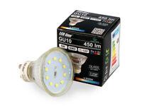 LED Line 10x GU10 5W LED Leuchtmittel Kaltweiß 6500K 450 Lumen Einbauleuchte