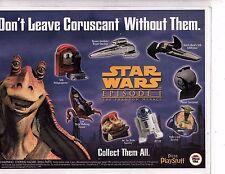 Star Wars ad Pizza Hut Mini Toys  and maze page