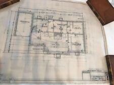 VINTAGE 1953 HOUSE BLUEPRINTS- 5 PRINTS. JONESBORO, TN