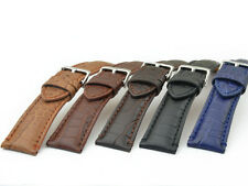 WATCH STRAP CAIMANOS BREITLING LOOK GENUINE LEATHER 20, 22, 24 MM US
