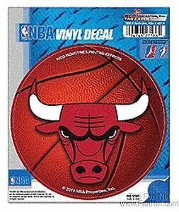 """Chicago Bulls 4"""" Round Decal Bumper Sticker Emblem Basketball CLR"""