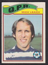 Topps - Footballers (Orange Back) 1978 - # 128 Mike Leach - QPR