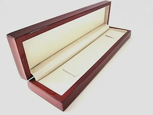 Affordable Luxury Wood Mahogany Brown Watch Bracelet Jewellery Gift Box-BHW7/P