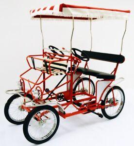 Four Wheel Surrey Bike, 2 Person Bicycle, Family Pedal Bike