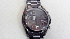 Michael Kors Unisex Bradshaw Chronograph 100m Black Stainless Steel Watch MK5550