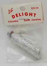 "Striper Delight SD134-S 2"" Topwater Popper 1/4 oz White Silver Fleck Wood 21465"