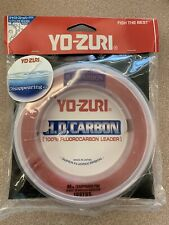 Yo-Zuri Pink 100% Fluorocarbon Leader Line 80lb 100yd Striper Surf R1083-Dp