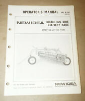 1983 New Idea Models 405 Side Delivery Rakes Operator's Manual P/N 986426