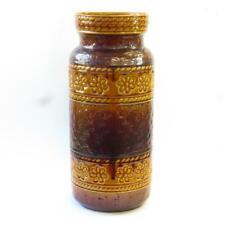 Large 16-inch Vintage Bay Keramik West German Pottery Brown Floor Vase (660 40)