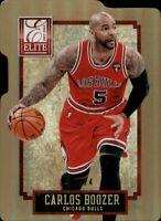 CARLOS BOOZER 2013-14 Panini Elite STATUS DIE-CUT SP #'D 06/24 Chicago Bulls