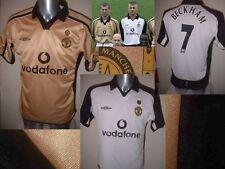 Manchester United Shirt Soccer Jersey Large Centenary Beckham Umbro Man Utd Rare