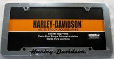 HARLEY DAVIDSON METAL LICENSE PLATE FRAME CHROME NEW L737