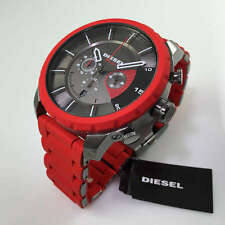 men s diesel stronghold red chronograph watch dz4384 item 2 brand new diesel dz4384 stronghold red rubber strap black chrono dial mens watch