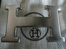 HERMES Authentique et superbe boucle de ceinture palladium brossée - Neuve