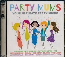 Party Mums 2-disc CD NEW Pink Hall Oates Toto Coldplay Lauper Flo Rida Journey