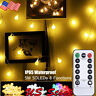 IP65 Waterproof Timer IR Remote Control 8 functions LED Globe Ball String Light