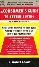 VINTAGE PAPERBACK SIDNEY MARGOLIUS CONSUMER'S GUIDE TO BETTER BUYING 1953